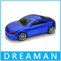 The blue audi  Music Car Model Speaker portable TF mp3 player FM Radio best gift for kids free shipping