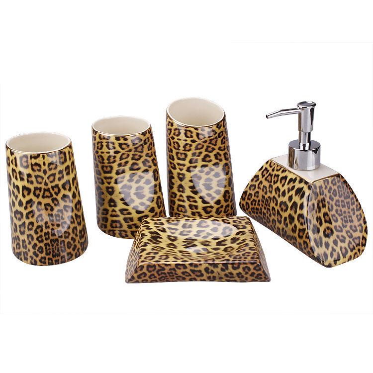 get cheap leopard bathroom set aliexpress