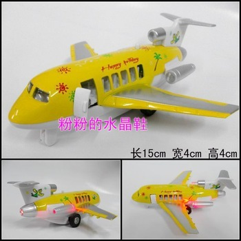 Alloy model toy plain cartoon airliner boeing jets yellow