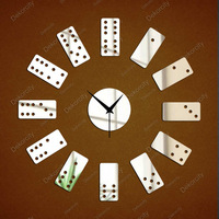 FREE SHIPPING Mirror wall stickers clock fashion 2013 pai gow clock fashion personalized gifts QIAOPAI