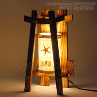 Free shipping  Log rustic table lamp bedroom bedside lamp fashion lamps personality gift large