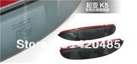 High Quality! Kia Optima K5 2011 2012 Side Door Mirrors Rearview Sun Rain Guard Shield Deflector