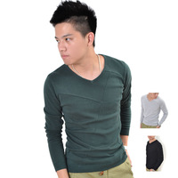 Basic sweater male V-neck pullover sweater thin spring and autumn men's clothing 2012 slim