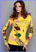 Free shipping cheap CA women 2014 Hot Sale yellow color fashion New Arrive Fashion Brand Women Short Sleeve T Shirt