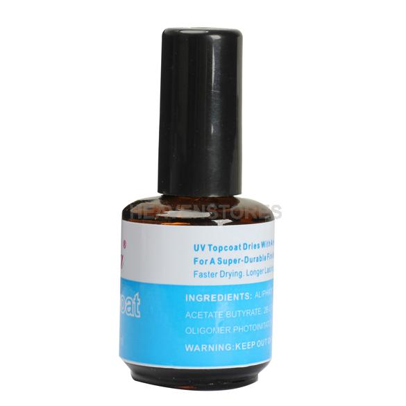 14ML UV Topcoat Top Coat Seal Glue Acrylic Nail Art Gel Polish Gloss hv3n(China (Mainland))