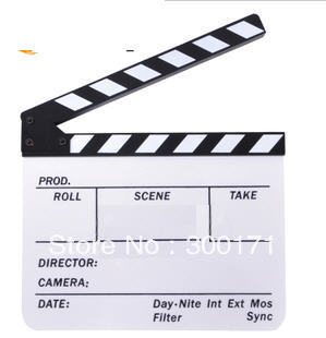 Clapperboard TV Film Movie Slate Clapper Board