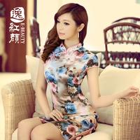 555Chiffon cheongsam 2013 of improved cheongsam dress fashion vintage summer