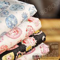 Free shipping rustic heart cotton prints cotton cloth full cotton fabric costumiers poplin handmade diy