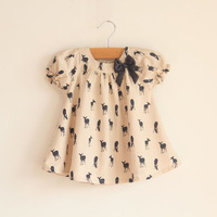 2013 summer child onta cute bow shirt children's clothing