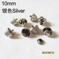 10pcs 10*6mm silver bucket rivets stud spike for punk rock rivets jacket