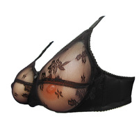 New sexy bra for fake breast for cross dressing not contain artificial nipple only colorful bra like black  red pink  withe