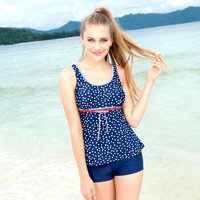 free shipping Polka dot split women's swimwear push up swimsuit hot springs  wholesale
