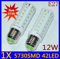 E27/E14/B22 5730 Chip 42leds 12W High Power LED Corn bulbs,Color White/ Warm White/Cool White , 110V and 220V, Free shipping