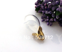 Free shipping!!!! 30*18mm Glass glass cover  Pendant Locket round base bulb shape Charm /Water Drop pendant with Brass cap