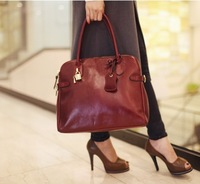free shipping leather  Bags 2013 women's handbag spring and summer fashion vintage shoulder bag female tote bags briefcases