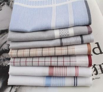 End of a single 60 100% cotton handkerchief male women's handkerchief