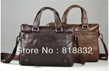 Wholesale Men's Genuine Leather Fashion Briefcase Messenger Shoulder Bags Simple Casual  Promotion