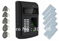 Biometric Fingerprint Access Control Reader with SD Card Memory+5pcs keyfobs+5pcs id card