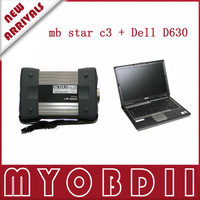 2013 TOP-rated OBD II Symstem mb mercedes multiplexer mb Star C3 with Dell laptop D630 free shipping