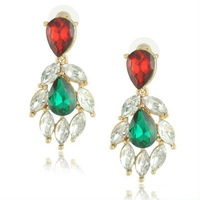 Min Order $10(Can mix order) Latest Summer More Crystal Droplets Earring Vintage Jewelry Free Shipping E1040