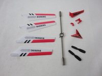Full Replacement Parts Set for Syma S107 RC Helicopter, Main Blades, Tail Decorations, Tail Props, Balance Bar,Red Set