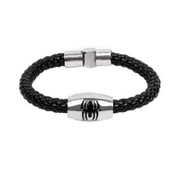Min. order is $10(mix order)free shipping 2013 new jewelry european style fashion handmade knitted animal leather bracelet male