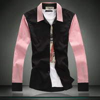 drop shipment ,  100% cotton men's shirt  long-sleeve shirt  autumn men's clothing 1308p75