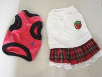 free shipping dog puppy  spring autumn dress 100%cotton vest set prince