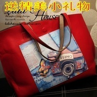 Women's handbag spring candy color big bag shoulder bag messenger bag color block women's bag women's handbag