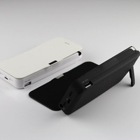 High capacity 4200mAh Power Bank Battery Backup Charger Case + Stand + Leather Cover for I Phone 5 Free shipping