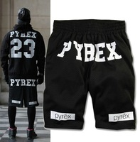 Hot selling women men Pyrex Vision 23 Gym Shorts breathable shorts pants couple models