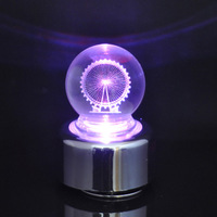 Creative Christmas gift Forever Love Ferris Wheel Colorful LED crystal ball rotating music box free shipping