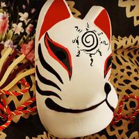 Fox mask performance props ball multicolour mask