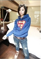 Fashion Me BB-092 new winter women's coat Superman High Quality Thicken Fleece Hoodie Hot Sale Free Shipping