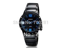 Free shipping+2014 New Fashion luxury Military Brand CURREN Men's Sport Waterproof Round Dial Quartz Watch Tungsten Steel Strap
