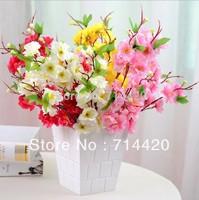 2pcs/lot  Artificial peach silk Flower simulation flowers peach blossom wedding & home patty  decor, freeshipping