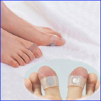 Free Shipping  Body Building Weight Lose Slimming Massager Silicon Magnetic Foot Massage Toe Ring Retail Packing 2 pair/lot