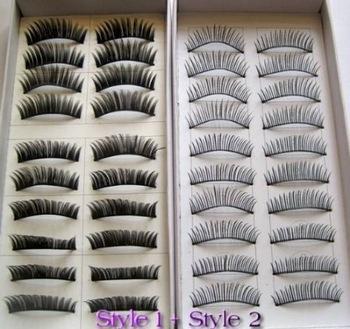 TTDeals 20 Pairs Regular Long and Thick Fake Eyelash False Eyelashes Style 1 and 2(China (Mainland))