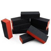 10pcs black nail art buffer sanding block files gel