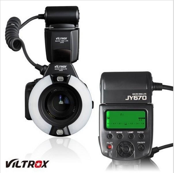 JY-670 Macro Close-Up O Ring LED flash for Canon Nikon Pentax Olympus+Free shipping(China (Mainland))