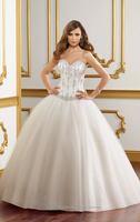 Free shipping New Organza Sweetheart Ivory White Wedding Dresses Stock Size:6 8 10 12 14 16