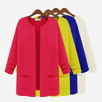 Free Shipping blouses for women 2013 new fashion women's brief o-neck long-sleeve cardigan all-match sweater outerwear sw849
