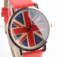 Womage flag quartz watch ladies watch strap fashion british style torx flag women's watch