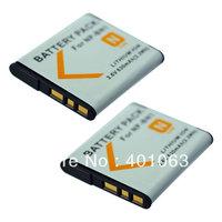 2 Battery for Sony NP-BN1 BN1 DSC TX100V TX66 WX100 J20 W570 W630 WX50 WX70 W690 W670 W620 W360 W380 TX200 WX200 WX100 W390 W610