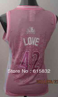 Free shipping Cheap Wholesale Women's Basketball Jerseys # 42 Love Pink Basketball Jersey High Quality Size:S-XXL