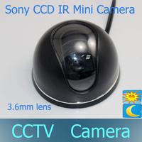 Optional 420TVL/600TVL /700TVL Sony CCD Color Waterproof IR Indoor 3.6mm lens CCTV Surveillance Mini Dome Camera