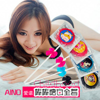 Free Shipping Aino Eno Gift Lollipop Personalized Gift Condom Single Adult Supplies Condom  Ring Long Lone Condom  Sexy Toys