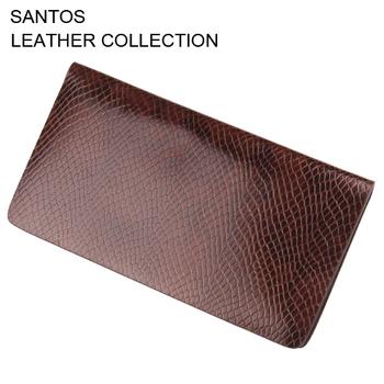 Santos Free Shipping + Man Leather Wallet + Snake Pattern Leather Wallet+ Credit Card Wallet SAQBL007-Z