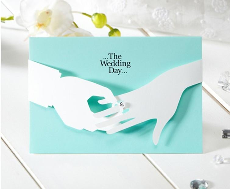 Romántica azul para imprimir tarjeta de invitación de boda con el ...