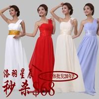 Long design formal dress oblique evening dresses formal dress autumn and winter fashion special occasion dresses